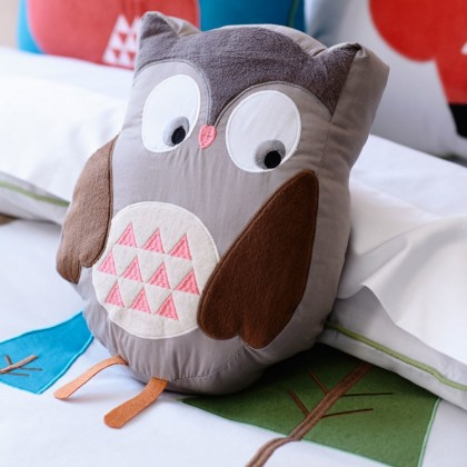 Brown Owl Plush Cuddle Cushion Toy