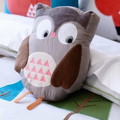 Brown Owl Plush Cuddle Cushion Toy