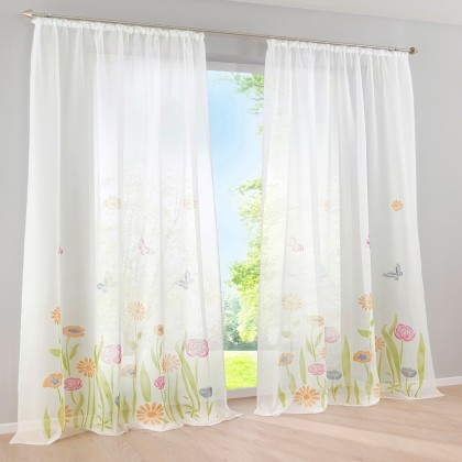 Butterfly Garden Curtain Set