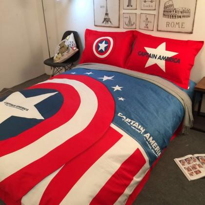 Captain America Duvet Cover Set