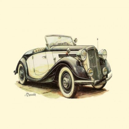 Vintage Car Canvas Print A