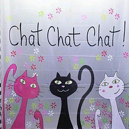 Kitten Chat Shower Curtain