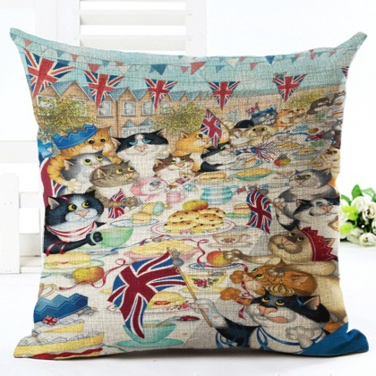 Cat Feast Cushion Cover