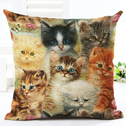 Kittens Cushion Cover