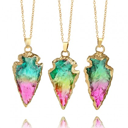 Rainbow Color Gemstone Pendant
