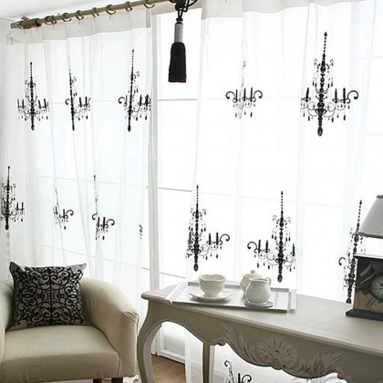 Custom Made Luxury Chandelier Curtain Panel