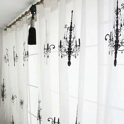 Luxury Chandelier Curtain Panel