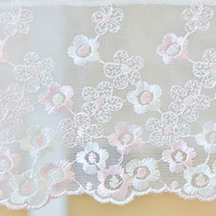 Cherry Flower Embroidery Tablecloth