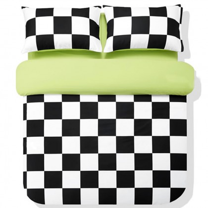 Black and White Chess Board Duvet Cover Set