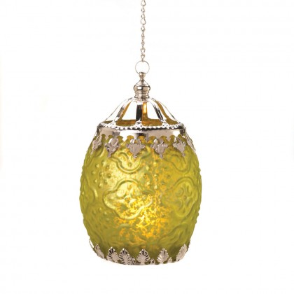 Citron Filigree Candle Lantern