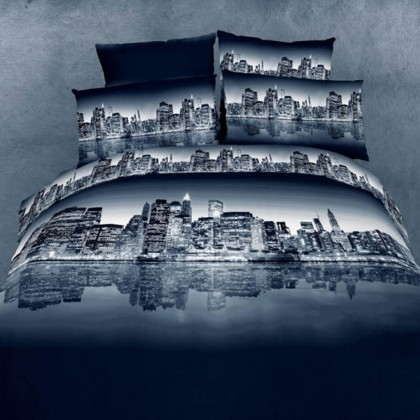 City Night View Bedding Set