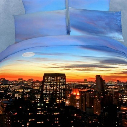 City Sunset Bedding Set