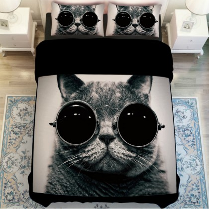 Cool Cat Duvet Cover Set