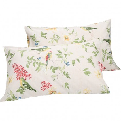 Vintage Bird Pillow Sham ( pair)