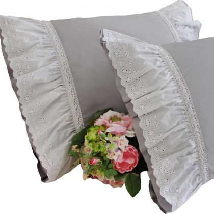 Vintage Grey Pillow Sham