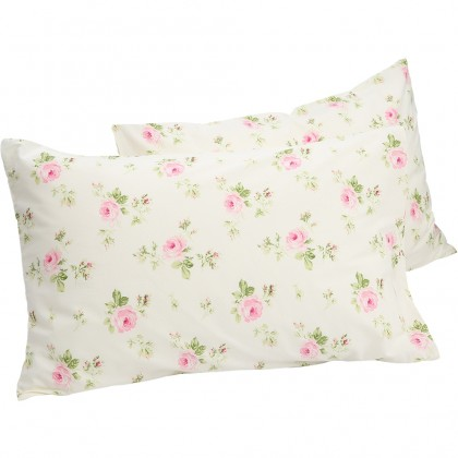 Cottage Rose Pillow Sham ( pair)