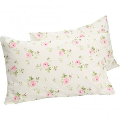 Cottage Rose Pillow Sham ( pair)