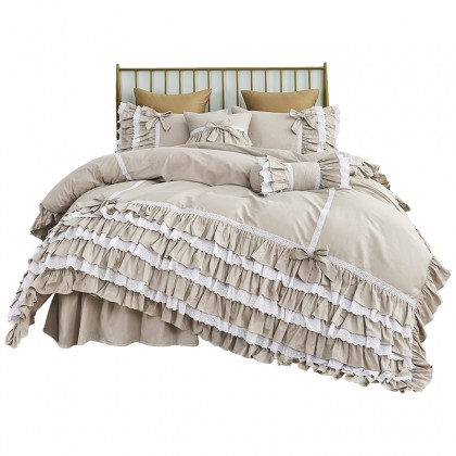 Neutral Romantic Duvet Cover Set