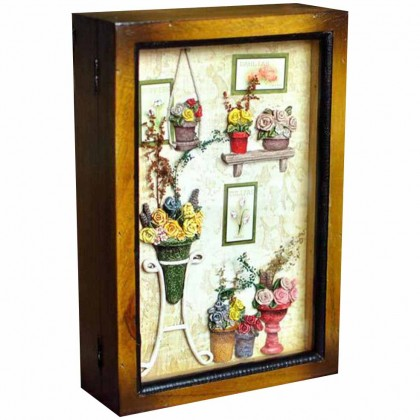 Rose Bouquet Wall Cabinet