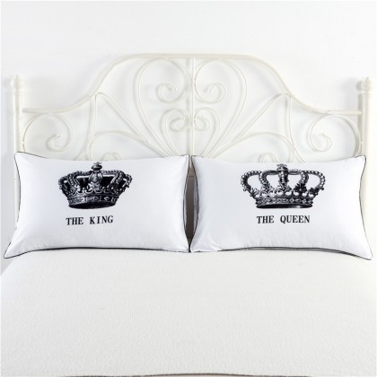King & Queen Pillowcase (1 pair)