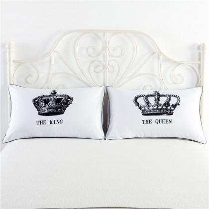 King & Queen Pillowcase (1 pair)