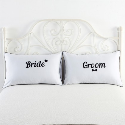 Bride & Groom Pillowcase (1 pair)