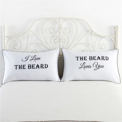 I Love the Beard Pillowcase (1 pair)