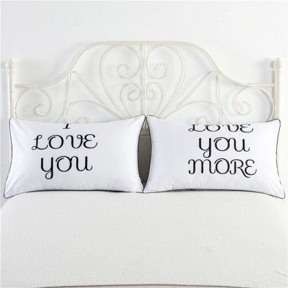 I Love You Pillowcase (1 pair)