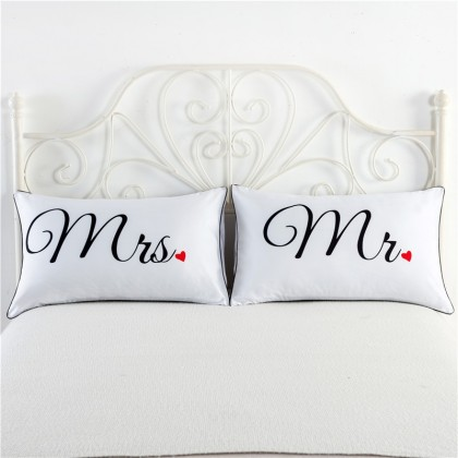 Mr Mrs Pillowcase (1 pair)