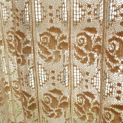 Crochet Rose Curtain