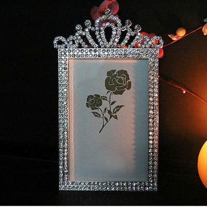 Crystal Crown Picture Frame