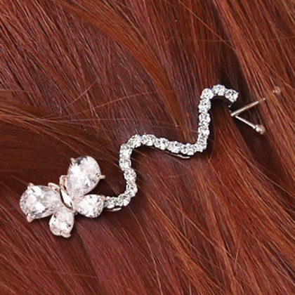 Crystal Butterfly Hair pins