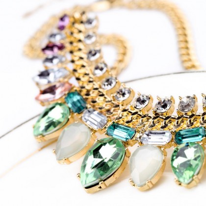 Fresh Green Crystal Necklace