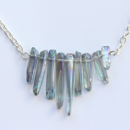 Iridescent Crystal Choker Necklace