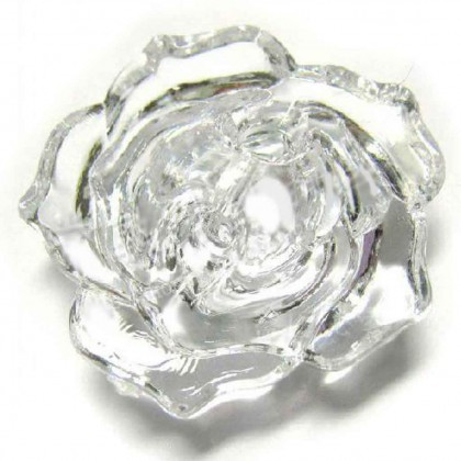 Crystal Rose Button