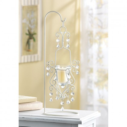 Vintage Crystal Drop Candle Holder