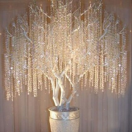 Wedding Crystal Garland Centerpiece Beads Tree Decor