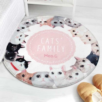 Cat's Family Mat