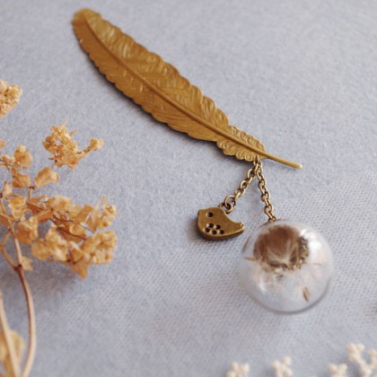 Golden Feather Dandelion Bookmark