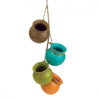 Dangling Santa Fe Mini Pots