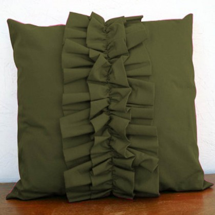 Lovely Chic Cushion Cover - Dark Green