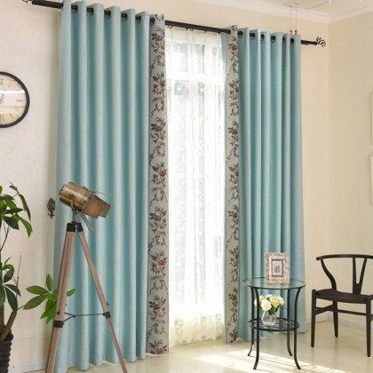 Designer Blackout Embroidered Curtain Panel