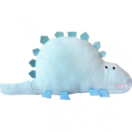 3D Stegosaurus Dinosaur Pillow-Blue