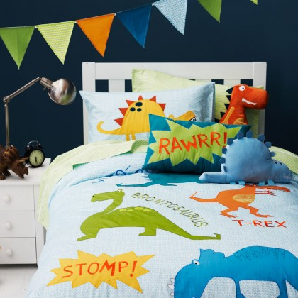 Kids Dinosaurs Duvet Cover Set