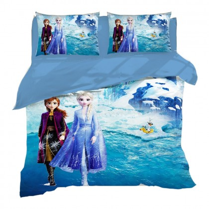 Frozen Princess Anna & Elsa Duvet Cover Set
