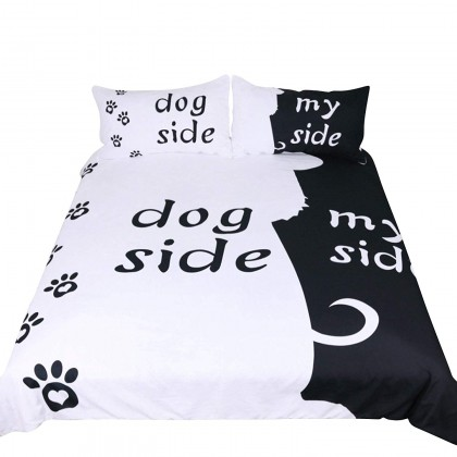 Dog Side My Side Duvet Cover Set