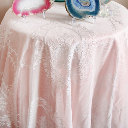 Venetian Double Layer Lace Ruffle Tablecloth