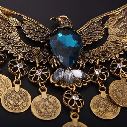 Vintage Blue Eagle Necklace