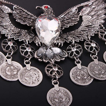 Vintage Eagle Silver Necklace