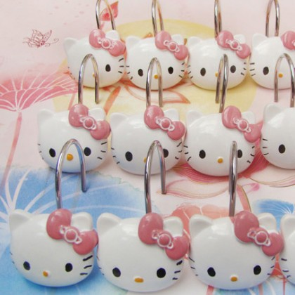 Hello Kitty Shower Curtain Hooks